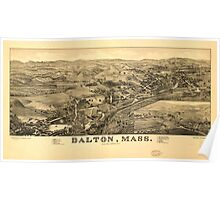 Panoramic Maps Dalton Mass Poster