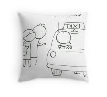 Considerate taxi driver Throw Pillow