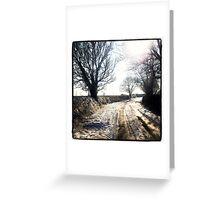Snowy Leicestershire Countryside Greeting Card