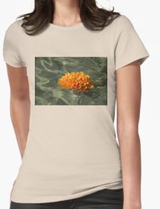 Floating Autumn - Chrysanthemum Blossom in the Fountain Womens Fitted T-Shirt
