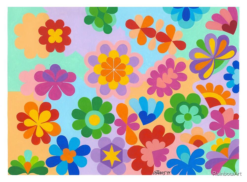 FLOWER FIGUREN - AQUAREL by RainbowArt