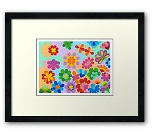FLOWER FIGUREN - AQUAREL Framed Print