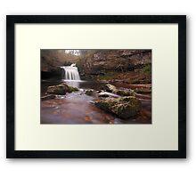 West Burton falls - Yorkshire Dales Framed Print