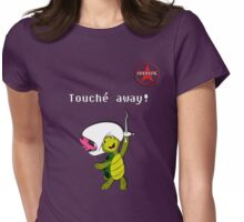 "GeekGirl - ""Touché away!"" Womens Fitted T-Shirt"