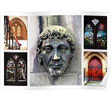 Peebles Old Parish Church Details Poster