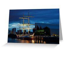 The Glenlee at Night Greeting Card