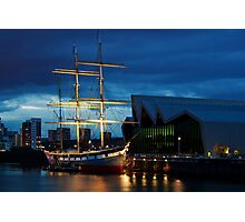The Glenlee at Night Photographic Print