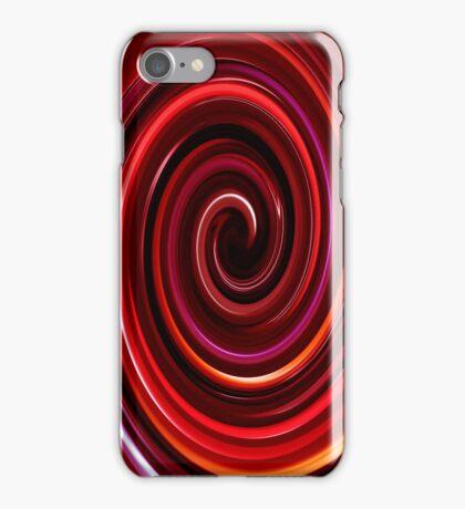 Red Swirl IPhone & IPod case iPhone Case/Skin