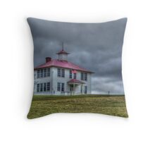 Old Schoolhouse On The Hill Throw Pillow