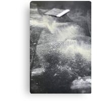 Baking Concept - flour is spread on the kneading surface Canvas Print
