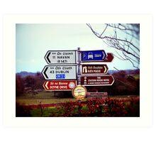 Which Way Do I Go? Art Print