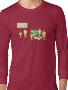 Ice Cream Hair Fun Long Sleeve T-Shirt