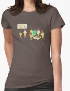 Ice Cream Hair Fun Womens Fitted T-Shirt