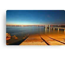 Swansea Channel by night Canvas Print