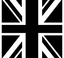 BRITISH, UNION JACK, FLAG, UK, UNITED KINGDOM, IN BLACK by TOM HILL - Designer