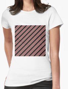 Beautiful Cushions/Stripe/ Marsala Black Womens Fitted T-Shirt