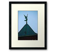 Angel of Judgement, Angel Gabriel - St. Marys Historical Church Framed Print