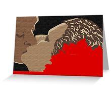 'The Kiss' Greeting Card or Small Print Greeting Card