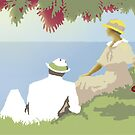'Summertime' Greeting Card or Small Print by luvapples downunder/ Norval Arbogast