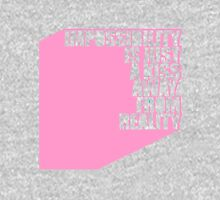 impossibility is just a kiss away from reality - pink Hoodie