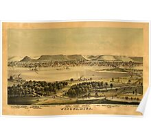Panoramic Maps Winona Minn Poster