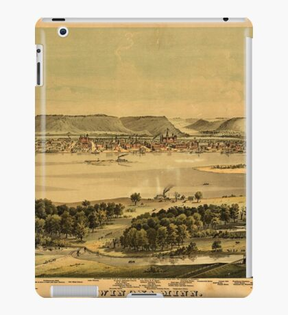 Panoramic Maps Winona Minn iPad Case/Skin