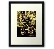 Sculpture In Mexico City Framed Print