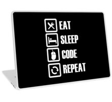 Eat, Sleep, Code, Repeat! Laptop Skin