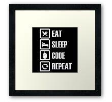 Eat, Sleep, Code, Repeat! Framed Print