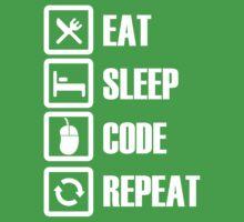 Eat, Sleep, Code, Repeat! Baby Tee