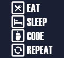 Eat, Sleep, Code, Repeat! Kids Tee