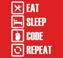 Eat, Sleep, Code, Repeat! One Piece - Short Sleeve