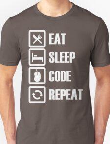 Eat, Sleep, Code, Repeat! Unisex T-Shirt