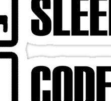 Eat, Sleep, Code, Repeat! Sticker