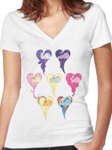 Group Heart Women's Fitted V-Neck T-Shirt