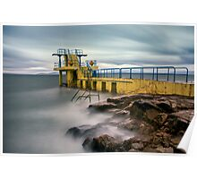 Blackrock Diving Tower Salthill Galway Ireland. Poster
