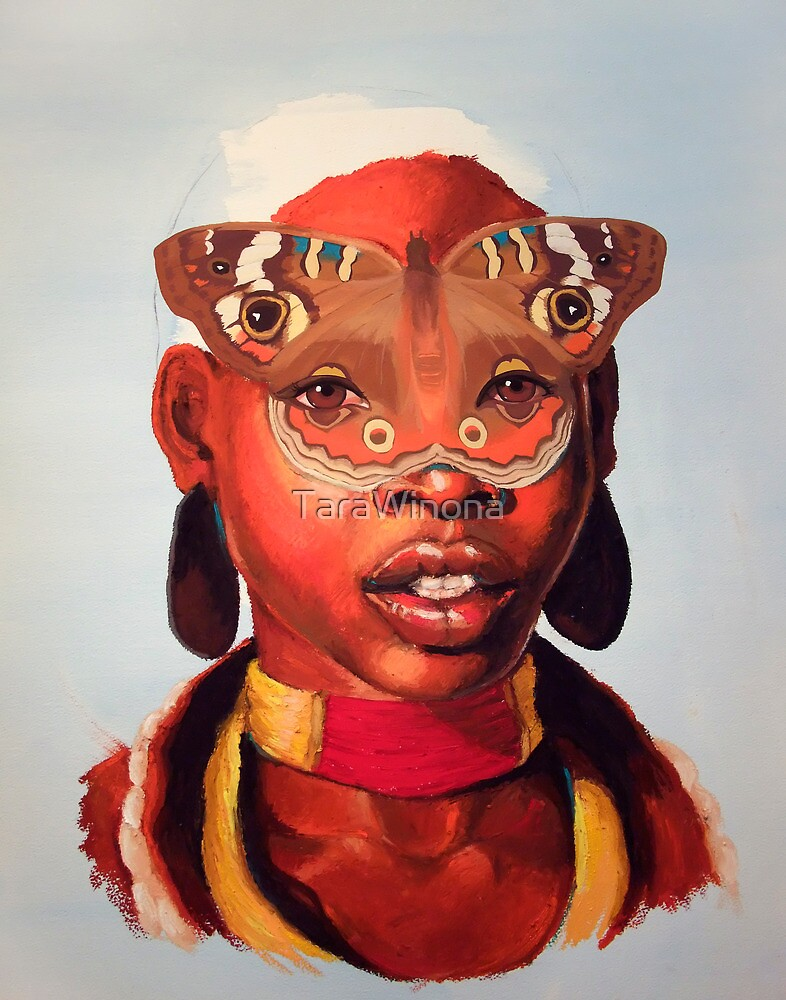 African Butterfly Mask by TaraWinona