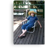 Boy on Vacations Canvas Print