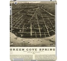 Panoramic Maps Green Cove Springs county seat of Clay County Florida 1885 iPad Case/Skin