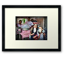 Free Cotton Candy! Framed Print