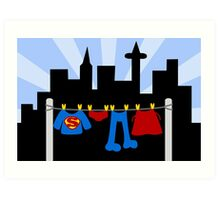 Super Laundry Art Print