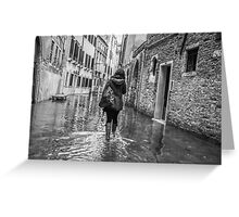 A Walk through Venice, Italy Greeting Card