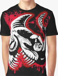 Feisty Fish Red and Black Graphic T-Shirt