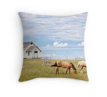 Town 1880, South Dakota Throw Pillow