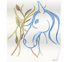 Blue Horse Poster