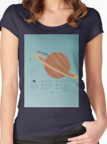 Saturn Women's Fitted Scoop T-Shirt