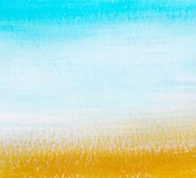 Aqua and Gold Abstract Art Sticker