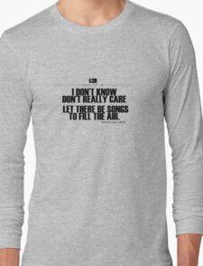 Grateful Dead Lyric -Ripple. Long Sleeve T-Shirt