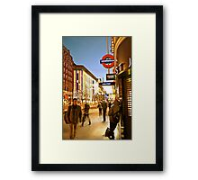Oxford Street Movement Framed Print