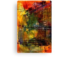 The House Jack Built in the Town Angela Imagined Canvas Print